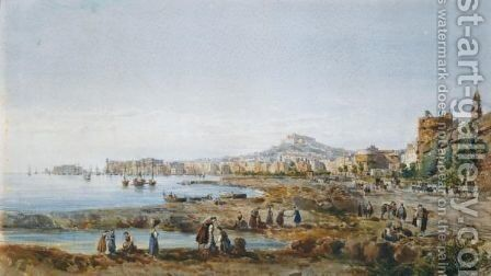 Napoli Dal Carmine by Giovanni Giordano Lanza - Reproduction Oil Painting