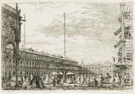 Le Procuratie E S. Ziminian by (Giovanni Antonio Canal) Canaletto - Reproduction Oil Painting