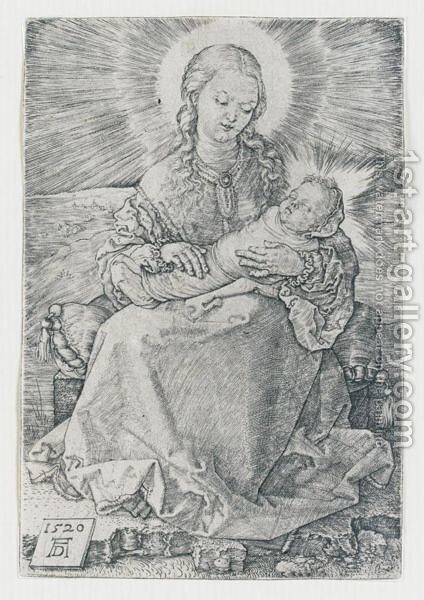 La Vergine Con Il Bambino In Fasce. 1520 by Albrecht Durer - Reproduction Oil Painting