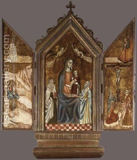 Triptych by Italian School - Reproduction Oil Painting