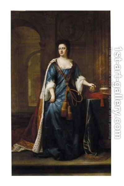 Portrait Of Queen Anne by (after) Kneller, Sir Godfrey - Reproduction Oil Painting