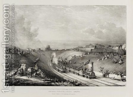Views Of The Opening Of The Glasgow And Garnkirk Railway by David Octavius Hill - Reproduction Oil Painting