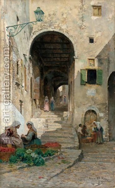 L'Arco Di Santa Maria A Cervara Di Roma by Cimane Martin - Reproduction Oil Painting
