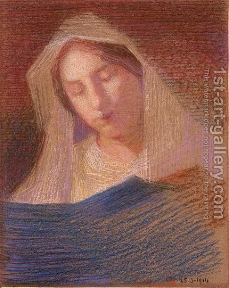 Madonna by Giovanni Sottocornola - Reproduction Oil Painting
