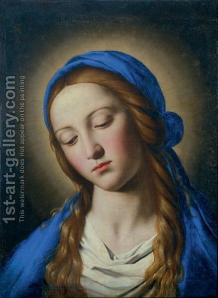 Madonna 5 by Giovanni Battista Salvi, Il Sassoferrato - Reproduction Oil Painting
