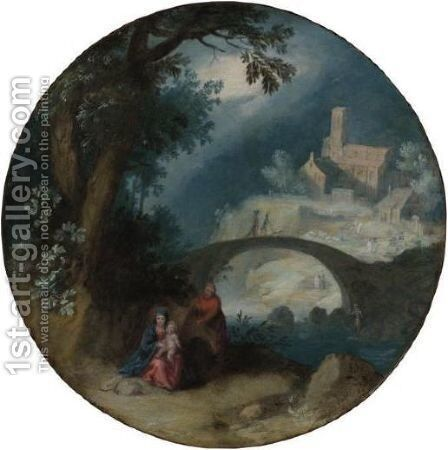 Rest On The Flight Into Egypt by (after) Pietro Mera - Reproduction Oil Painting