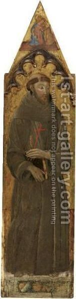 Saint Francis by Neapolitan School - Reproduction Oil Painting