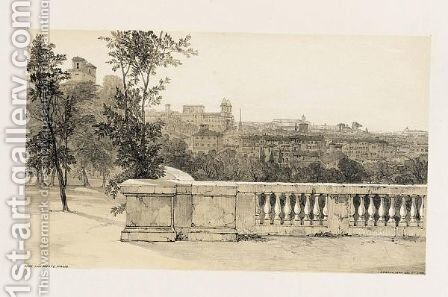 Views In Rome And Its Environs. London T. M'Lean, 1841 by Edward Lear - Reproduction Oil Painting