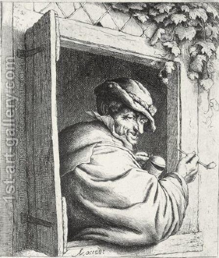 A Large Collection Of Etchings By Adriaen Van Ostade by Adriaen Jansz. Van Ostade - Reproduction Oil Painting