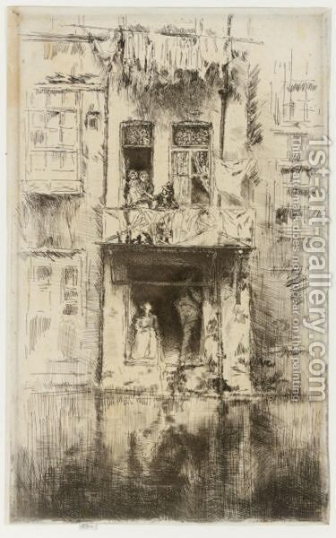 Balcony, Amsterdam 2 by James Abbott McNeill Whistler - Reproduction Oil Painting