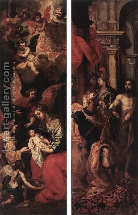 Wings Of An Altarpiece 1620 by Hendrik van Balen, I - Reproduction Oil Painting