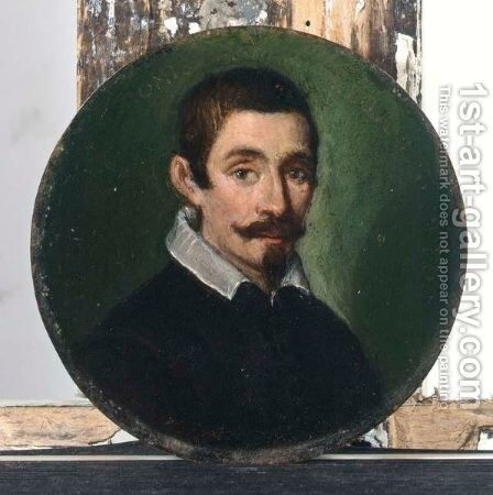 A Portrait Of A Gentleman, Head And Shoulders, Aged 38, Wearing A Black Coat, With A White Collar by Emilian School - Reproduction Oil Painting