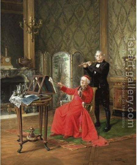 The Musician by Alfred Charles Weber - Reproduction Oil Painting