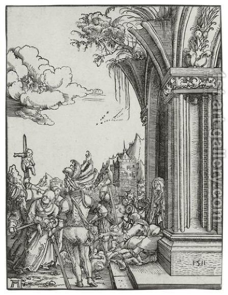 Massacre Of The Innocents by Albrecht Altdorfer - Reproduction Oil Painting