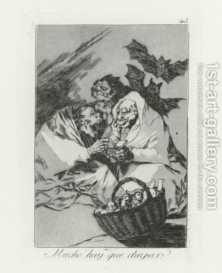 Los Caprichos 4 by Goya - Reproduction Oil Painting