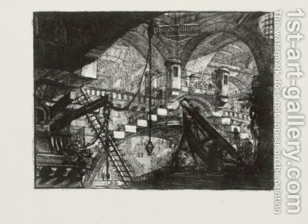 Carceri D'Invenzione 2 by Giovanni Battista Piranesi - Reproduction Oil Painting