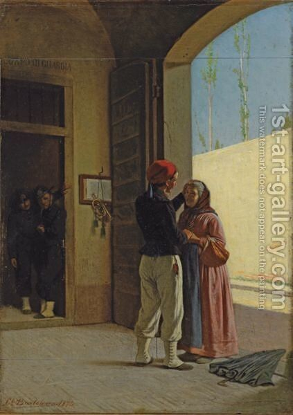 The Return Of The Soldier by Cesare Bartolena - Reproduction Oil Painting