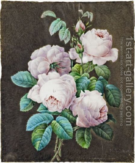 Bouquet Of Roses by (after) Pierre-Joseph Redoute - Reproduction Oil Painting