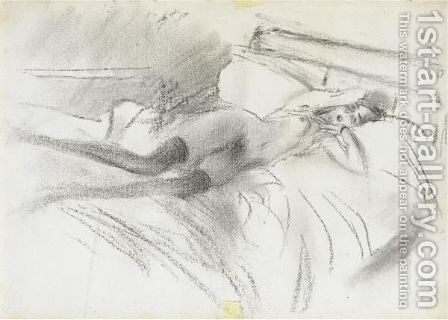 Lina Cavaleri Coricata by Giovanni Boldini - Reproduction Oil Painting