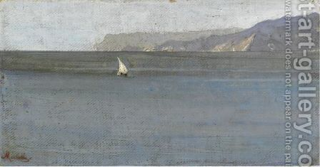 Veduta Di Capo Noli by Angelo Morbelli - Reproduction Oil Painting
