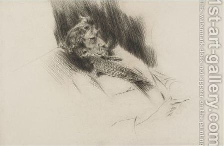 Portrait Of Whistler Asleep by Giovanni Boldini - Reproduction Oil Painting