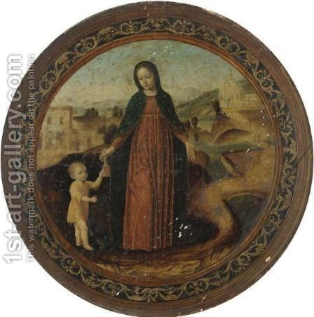 The Virgin And Child In A Landscape by Ambrogio Bergognone - Reproduction Oil Painting