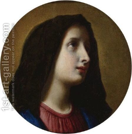 The Mourning Virgin by Carlo Dolci - Reproduction Oil Painting
