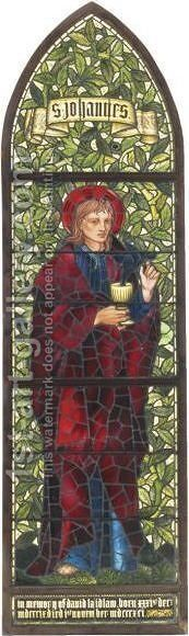 St. John The Evangelist by Sir Edward Coley Burne-Jones - Reproduction Oil Painting