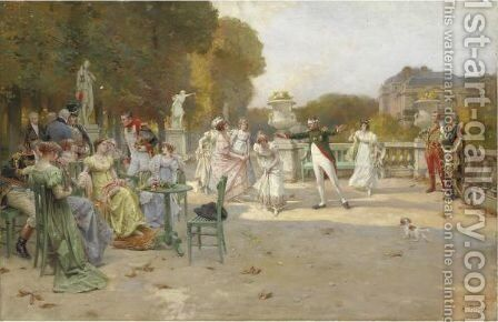 La Moscacieca by Alcide Theophile Robaudi - Reproduction Oil Painting