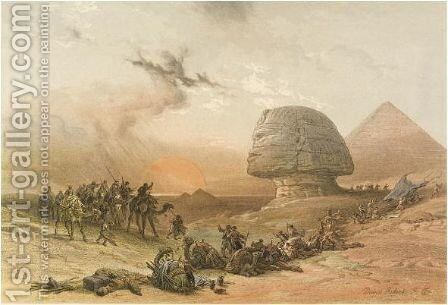The Holy Land, Syria, Idumea, Arabia, Egypt, And Nubia 1855 by David Roberts - Reproduction Oil Painting