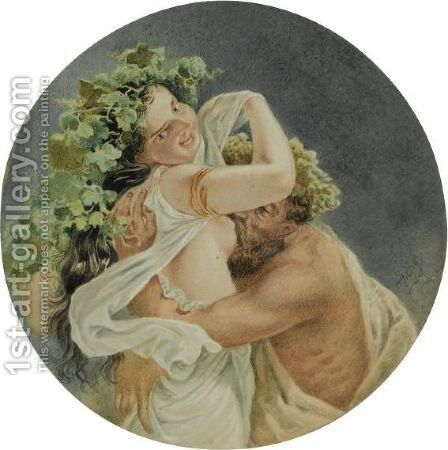 Bacchante by Mihaly von Zichy - Reproduction Oil Painting