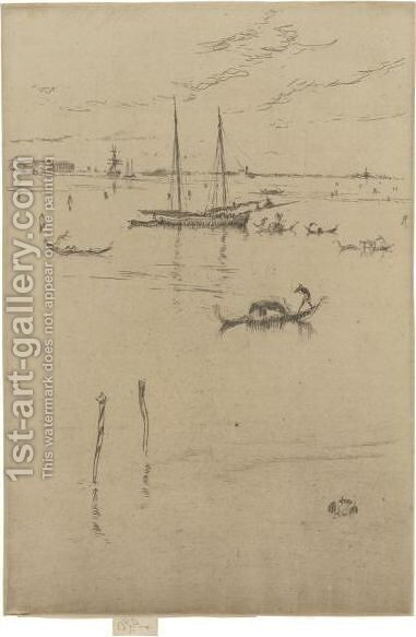 The Little Lagoon by James Abbott McNeill Whistler - Reproduction Oil Painting