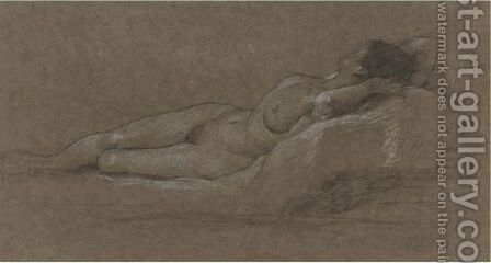 Reclining Nude by Edward John Gregory - Reproduction Oil Painting