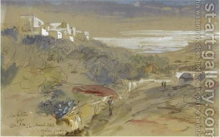 Ainselim, Gozo by Edward Lear - Reproduction Oil Painting