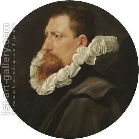 Portrait Of A Man, Bust Length, In Profile by (after) Sir Peter Paul Rubens - Reproduction Oil Painting