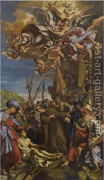 The Miracles Of Saint Anthony by Emilian School - Reproduction Oil Painting