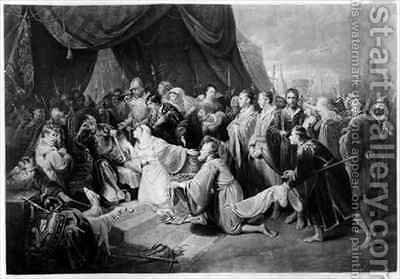 The Surrender of Calais by (after) Edward Bird - Reproduction Oil Painting
