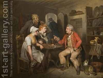 The Old Soldier's Story by Edward Bird - Reproduction Oil Painting