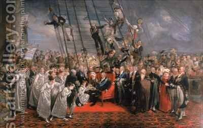 The Arrival of Louis XVIII at Calais by Edward Bird - Reproduction Oil Painting