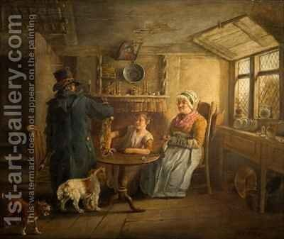 The Poacher's Return by Edward Bird - Reproduction Oil Painting