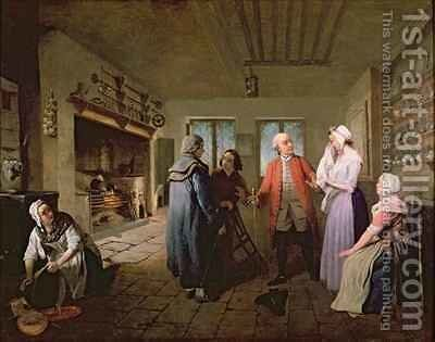 The Reception in the Kitchen Following the news of Bobby Shandy's Death by Edward Bird - Reproduction Oil Painting