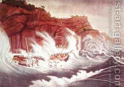 Loss of the Packet Ship Albion by (after) Birch, Thomas - Reproduction Oil Painting