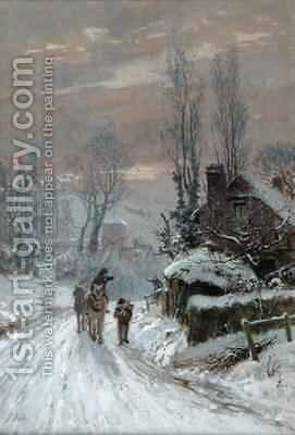 A Winter Evening by James George Bingley - Reproduction Oil Painting
