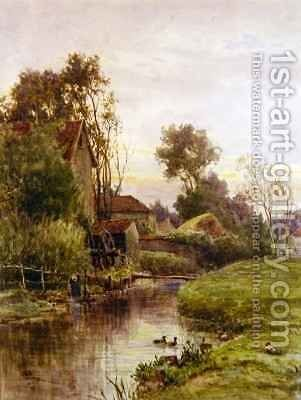 The Mill Stream by James George Bingley - Reproduction Oil Painting