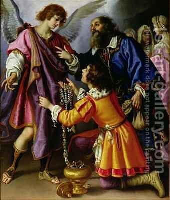The Angel Refusing Gifts from Tobias by Giovanni Biliverti - Reproduction Oil Painting