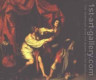 Joseph and Potiphar's Wife by Giovanni Biliverti - Reproduction Oil Painting