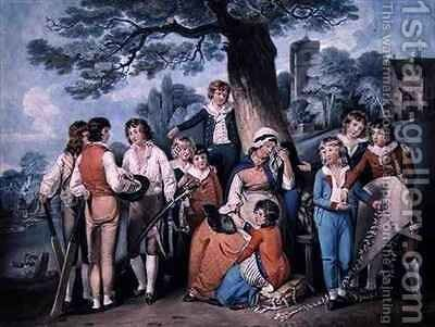 The Soldier's Widow, or School Boys' Collection by (after) William Redmore Bigg - Reproduction Oil Painting