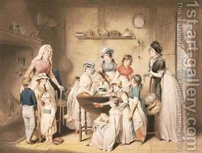 The Sailor's Orphans, or The Young Ladies's Subscription by (after) William Redmore Bigg - Reproduction Oil Painting