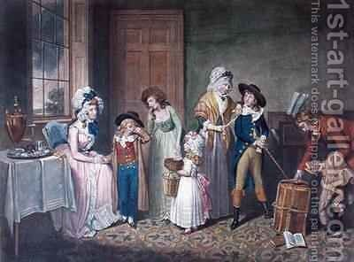 Black Monday, or The Departure for School 2 by (after) William Redmore Bigg - Reproduction Oil Painting