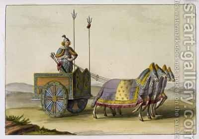 Ancient Chinese War Chariot by Giovanni Bigatti - Reproduction Oil Painting